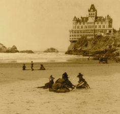 UNITED STATES - CIRCA 1898:  The Cliff House is a restaurant perched on the headlands on the cliffs just north of Ocean Beach on the western side of San Francisco, California. It overlooks the site of the former Sutro Baths and a room-sized camera obscura and is now part of the Golden Gate National Recreation Area, operated by the National Park Service.  (Photo by Buyenlarge/Getty Images) Photo: Buyenlarge, Bob Bragman / Archive Photos