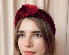 Velvet headband with beads hair accessories women fashion Thick Headbands, Hair Beads, Headband Hairstyles, Women Accessories, Velvet, Womens Fashion, Etsy, Beauty, Women's Fashion