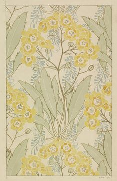 Alpinus, watercolour design for wallpaper, 1900 by Lindsay Phillip Butterfield, V&A