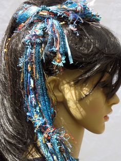 Boho scarf / hair tie for stunning prom updo or handmade wedding updo https://www.etsy.com/listing/230163904/turquoise-teal-scarf-fringe-scarf-fringe?ref=shop_home_active_11