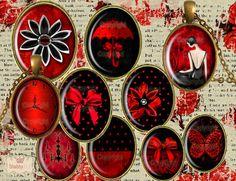 Images cabochons OVALES ♥ ELEGANCE ROMANTIQUE ♥ bijoux,pendentif,boucles d'oreilles,portes clefs : Art numérique par shabbyfee
