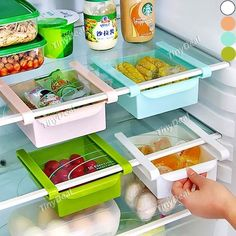 Draw-out Design Fridge Storage Rack Shelf Sliding Drawer Organizer Holder…