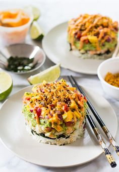 Spicy Shrimp Stack with Mango Salsa