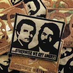 ...otherwise we get angry! #embroideredpatch #crazypatch #funnypatch #patch #custompatch #patchricamate #toppe #stemmi #otherwisewegetangry #budspencer #terencehill #altrimenticiarrabbiamo #lapatcheria www.lapatcheria.com