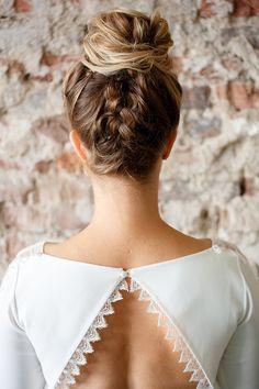 braided updo bun - photo by Mon et Mine http://ruffledblog.com/geometric-abstracts-wedding-ideas