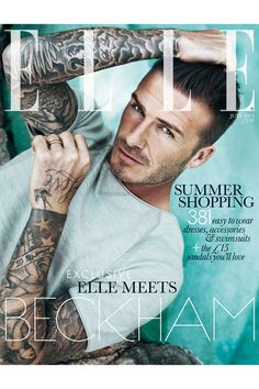 He is the first. // Beckham // Elle