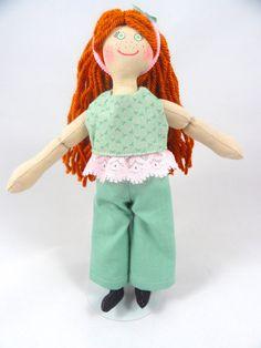 Redhead Dress Up Doll  Handmade Toys by JoellesDolls on Etsy