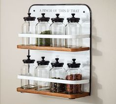 Enamel Spice rack (pottery barn) - fun for kitchen or craft room?!