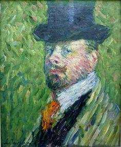 Alexej von Jawlensky - Self-portrait with top-hat [1904]