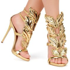 Hot sell women high heel sandals gold leaf flame gladiator sandal shoes party dress shoe woman patent leather high heels-in Women's Sandals from Shoes on Aliexpress.com   Alibaba Group