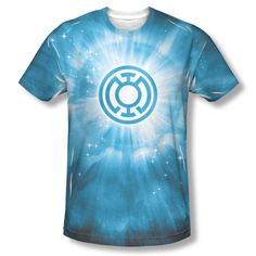 DC Green Lantern Blue Energy Ring Corp Sublimation ALL OVER Vintage T-shirt top Mens Sizes: S, M, L, XL, 2XL