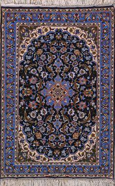 "Buy Esfahan Persian Rug 2' 4"" x 3' 6"", Authentic Esfahan Handmade Rug"
