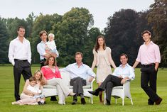 Princess Alexandra, Prince Guillaume, Prince Sebastian, his wife Tessy Anthony, Prince Henri, Grand Duchess of Luxembourg, their sons Noah, Prince Felix, Gabriel, Maria Teresa, Prince Louis of Luxembourg