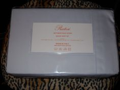 Sleeping on these sheets will make you feel like you're in a luxury hotel...until the dog wakes you up to feed him breakfast in your ratty bathrobe. Pratesi 4 PC Lavender Sheet Set Queen NWT 300 TC Made in Italy Pratesi Monogram