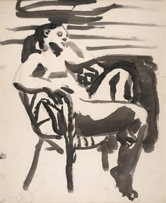 Figure in Chair. David Park
