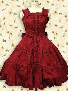 Red Sleeveless Ruffle Sweet Lolita Dress