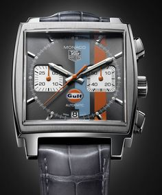 TAG Heuer Monaco watch in Gulf colours