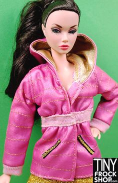 Barbie Gold Faux Quilted Hooded Jacket