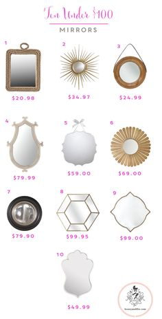 10 great mirrors under $100 (many under $50!)