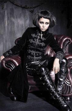 Punk-Rave-Gehrock-UNISEX-Samt-Mantel-Rot-Victorian-Coat-Gothic-Steampunk-Y401