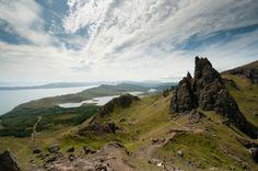 Fantastisch uitzicht na een mooie wandeling naar de Old Man of Storr op het eiland Skye in Schotland