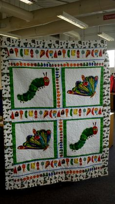 Inspiration. Picture only. No pattern. Hungry caterpillar quilt