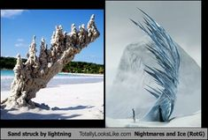 People Struck by Lightning | Sand Struck by Lightning Totally Looks Like Nightmares and Ice