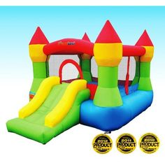 Bounceland Castle W/Hoop Inflatable Bounce House Bouncer #bouncehousesforkids