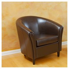 Bonded Chair Brown Leather - Christopher Knight Home : Target