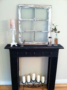 5 Ways to Fake a Fireplace Mantel Mantels Fireplace mantel and