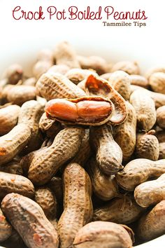 Crock Pot Boiled Peanuts! Make your favorite roadside snack at home with this super easy slow cooker recipe!