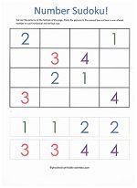 Easy Sudoku Puzzles for Kids! www.preschool-printable-activities.com