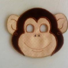 Monkey 1 mask | Spookies Treasures Monkey, Projects, Log Projects, Jumpsuit, Monkeys, At Sign