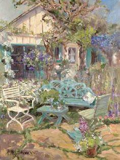 Summer Garden Art Print by Allayn Stevens at Art.com