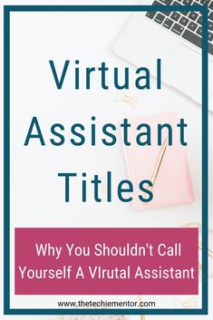 The Techie Mentor shares tips to help you start, launch and grow your Virtual Assistant Business. Don't call yourself a virtual assistant. Click through to discover why. Business Names, Business Tips, Online Business, Business Software, Business Opportunities, Work From Home Business, Work From Home Jobs, Virtual Assistant Services, Earn Money From Home