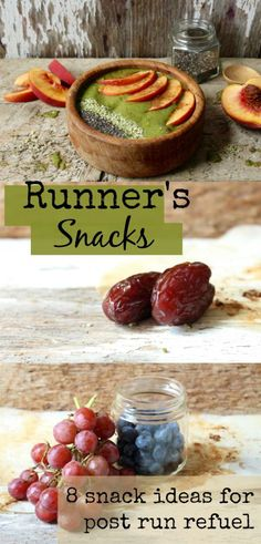 Snacks and healthy eating tips for after your run or workout!