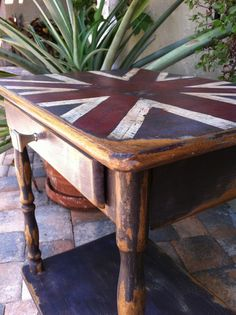 Union Jack end table.