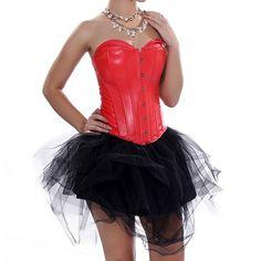 Womens Faux Leather Corset Skirt Set Hen Party Showgirl -- Visit the image link more details. Leather Corset, Overbust Corset, Plus Size Lingerie, Showgirls, Shapewear, Night Out, Skirt Set, Ballet Skirt, Bridesmaid Dresses