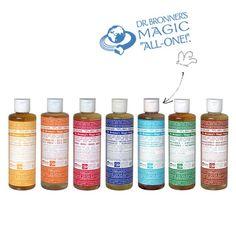 Dr. Bronner's Magic Soaps - Savon Liquide bio multi-usages Non-Parfumé doux bébé (medium 236ml) Non-Parfumé. Idéal pour les bébés, femmes enceintes ou les peaux sensibles.