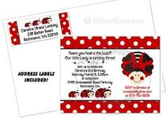 Ladybug party printables invitations decorations party this custom polka dot ladybug party invitation will be personalized especially for her your choice of wording and printed address stopboris Gallery
