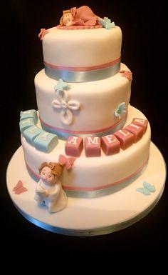 Girl and Boy Christening cake