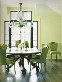 Green Dining Room I Am Just So Into The Round Table Right Now Love