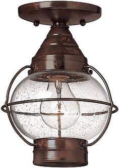 flush porch light onion - can be hanging too