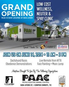 Please come and support our new clinics that will be opening soon!!