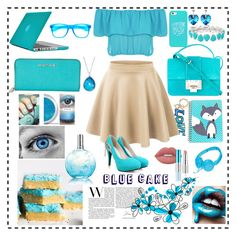 """""""•Blue Cake•"""" by srtayeah on Polyvore featuring Lime Crime, Lanvin, WearAll, LE3NO, Lise Watier, Speck, Jimmy Choo, Casetify, Michael Kors and Liz Claiborne"""