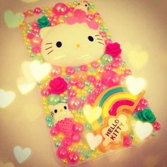 Kitty Tropical Rainbow Kawaii Decoden, Deco Case. Can Be Made For ANY Phone Samsung Galaxy S4, Iphone 4/4s Case on Etsy, $39.26