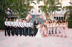 The Don Cesar, St Pete Beach, Florida, Beach Wedding, Bridal Party, Darryl Wilson Photography, Iza's Flowers, Inc.