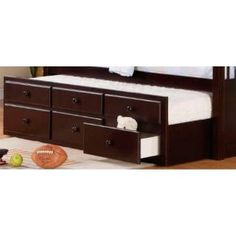 Check out the Coaster Furniture 460074 Logan Beds Trundle with Storage in Cappuccino priced at $387.60 at Homeclick.com.