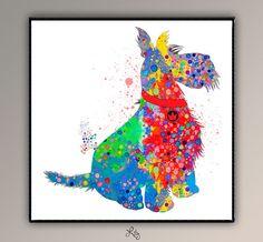 Scottish Terrier perro perros y gatos Serie por LilytheLovely