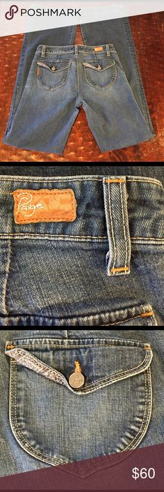 "Paige Topanga Canyon Classic Rise Trouser Leg 27 Paige Premium Denim Topanga Canyon Classic Rise Trouser Leg Size 27. Jean has a long 33"" inseam. Jean is in great condition with no significant signs of wear. Comes from a Smoke Free/Pet Friendly home. Offers always welcome. Paige Jeans Jeans Flare & Wide Leg"